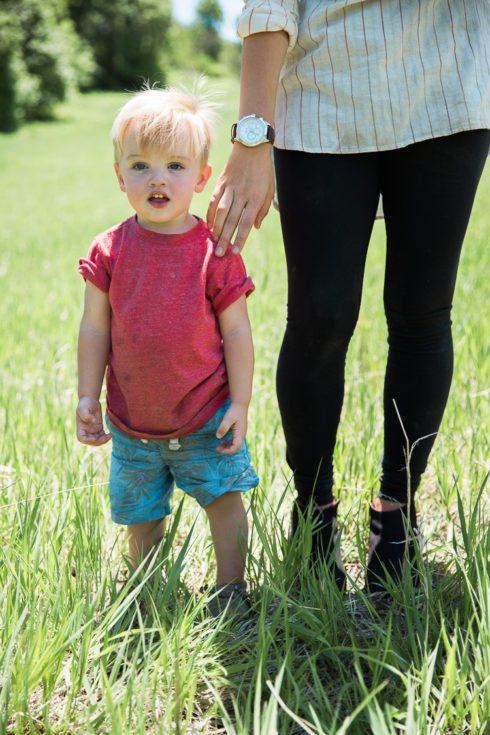 Jordan Cidelle Fashion Blogger Watches Lululemon with son